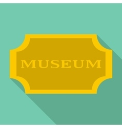 Sign museum icon flat style vector