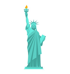 Statue of liberty isolated national symbol of vector