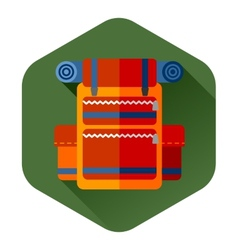 Travel backpack orange vector image