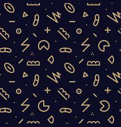 trendy seamless geometric pattern - memphis vector image