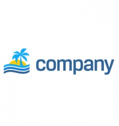 tropical beach travel logo vector image