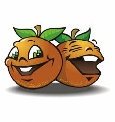 two merry oranges vector image