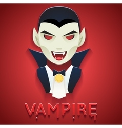 Vampire Avatar Role Character Bust Icon Halloween vector