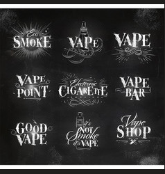 Vape elements chalk vector