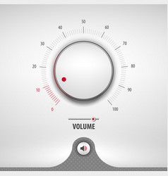 volume for media player vector image