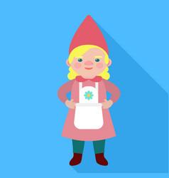 woman goblin icon flat style vector image