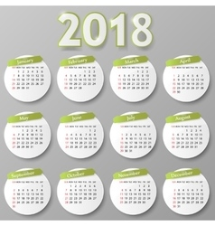 Year calendar design vector