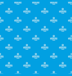 Zombie apocalypse pattern seamless blue vector
