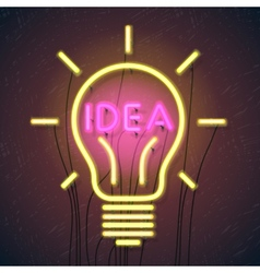 Concept of successful idea inspired by bulb shape vector image