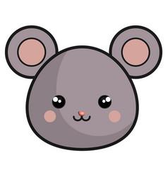 cute mouse kawaii style vector image vector image