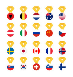 set national flags of the world isolated on white vector image