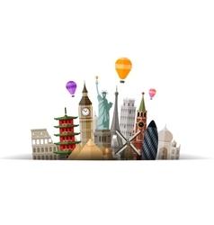 travel logo journey tour trip icon vector image vector image