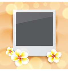 Blank photo on sand vector image