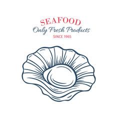 hand drawn scallops icon vector image