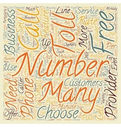 How To Get An Number For Your Business text vector image vector image