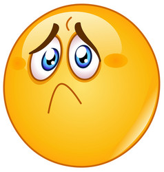 hurt and sad emoticon vector image vector image