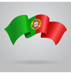 Portuguese waving Flag vector image vector image
