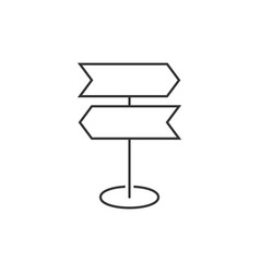 road sing post icon vector image