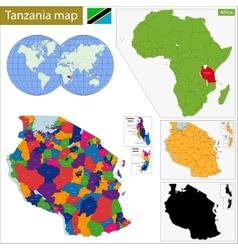 Tanzania map vector image vector image