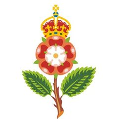 tudor rose royal bage of england vector image vector image