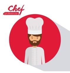 chef profession design vector image