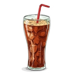 Coca cola color picture sticker vector image vector image