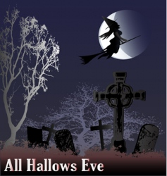 hallows eve vector image vector image