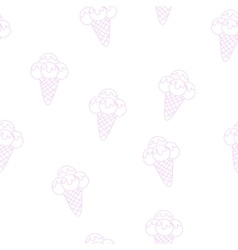 Pattern Ice Cream eps 10 vector image vector image
