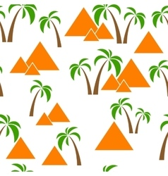 seamless palm pyramids vector image vector image