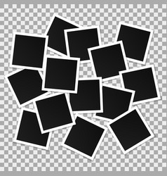 Set of square photo frames collage of vector