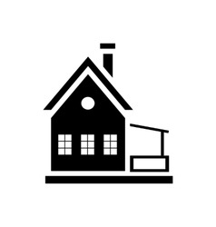 Small wooden house icon simple style vector image vector image