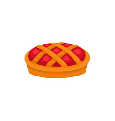 traditional cartoon apple pumpkin fruit pie vector image