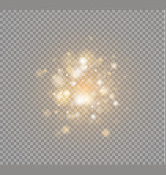 white sparks and stars glitter special light vector image