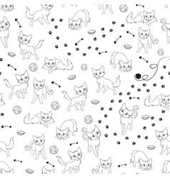 Cartoon cats seamless pattern vector image vector image