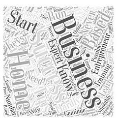 entrepreneur home based business Word Cloud vector image