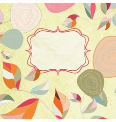 Floral backgrounds with vintage roses EPS 8 vector image vector image