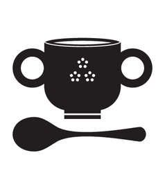 SoupBowlSilhouette vector image vector image