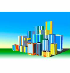 3d city vector image