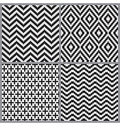 Abstract geometric tiling seamless pattern vector