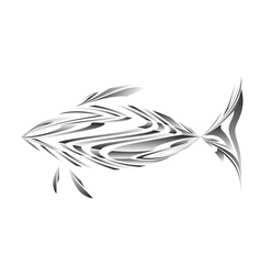 Abstract of a fish vector