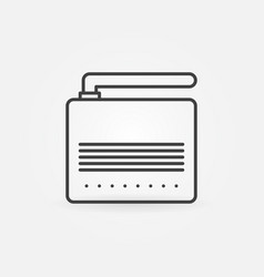 adsl modem or router icon in thin line vector image