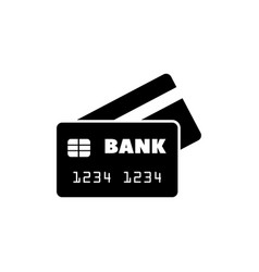 Bank credit card flat icon vector