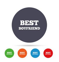 Best boyfriend sign icon award symbol vector