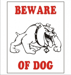 Beware of the dog vector