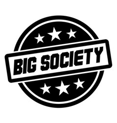 Big society stamp on white isolated vector