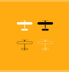 biplane it is white icon vector image