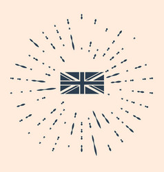 Black flag great britain icon isolated on beige vector