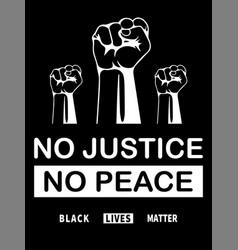 Black lives matter black and white blm depicting vector