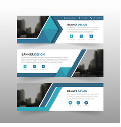blue triangle corporate business banner vector image