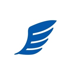 Blue wing icon simple style vector image